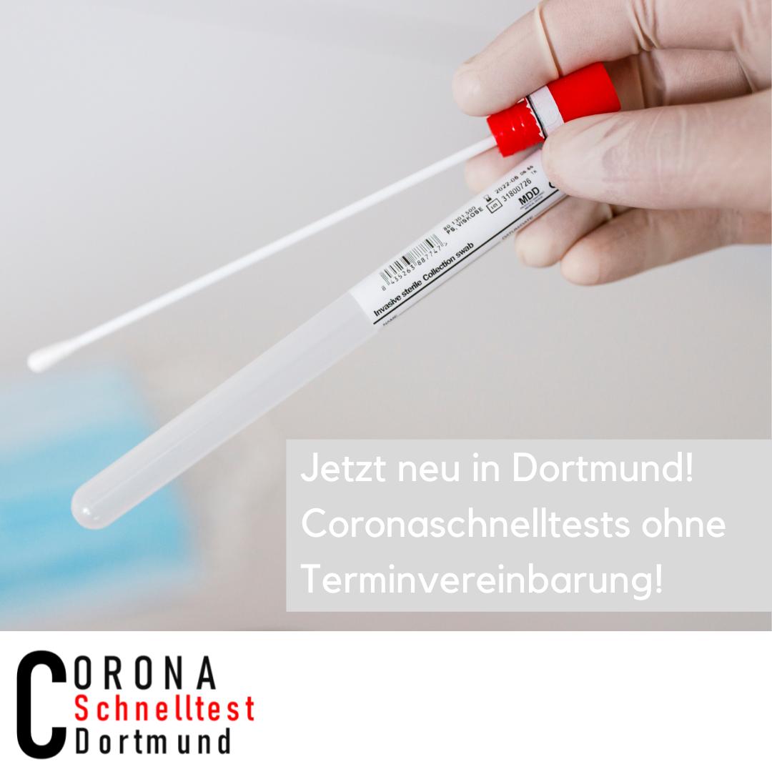 Coronaschnelltest in Dortmund - ohne Terminvereinbarung